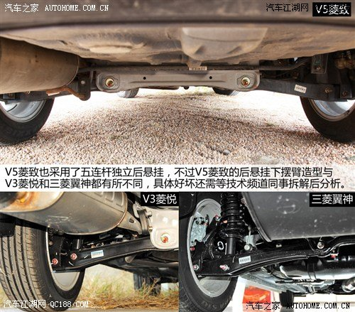 V5菱致前后悬架详解 权威评测 东南汽车高清图片