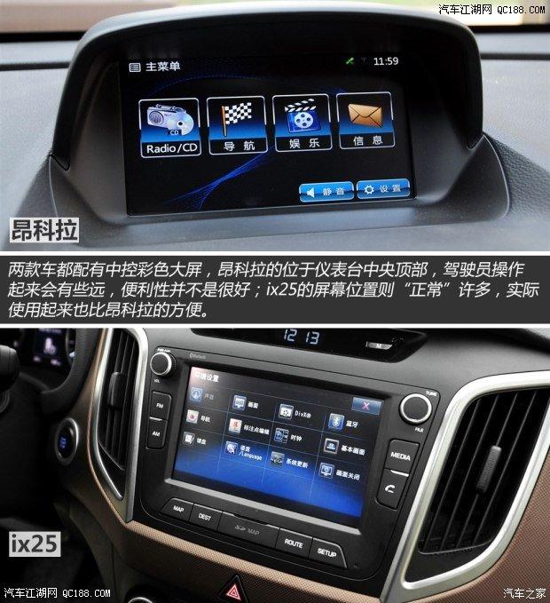 【精图】北京现代ix25中控方向盘详解