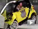 碰撞测试黄色smart fortwo安全气囊