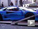 实在太帅了 街拍炫酷电镀蓝法拉利F40