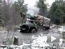 车猛才是真的猛 暴强卡车趟小河如履平地