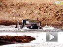 改装吉普小马 越野小河 差点被淹