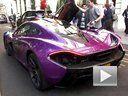 街拍紫色的迈凯伦 McLaren P1