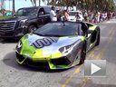 Lamborghini Aventador秀喷火